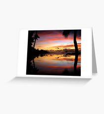 Carribean Sunset Greeting Card