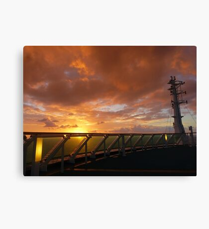Sunrise at sea, off NZ Canvas Print
