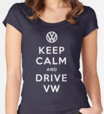 Keep Calm and Drive VW (Version 01) Women's Fitted Scoop T-Shirt