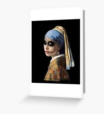 The Girl with the Broken Smile Greeting Card