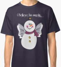 Snowman Angel Classic T-Shirt