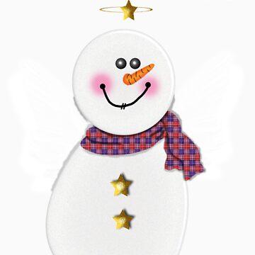 Snowman Angel by tapiona