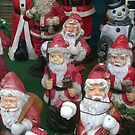 group of santa clause by 64stops