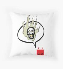 Say Burn! (Print) Throw Pillow