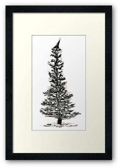 evergreen (haiga X) by dthaase