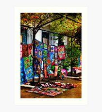 Colorful Handicrafts Art Print