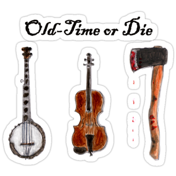 """Old-Time or Die"" T-shirt by Bill Ackerbauer"