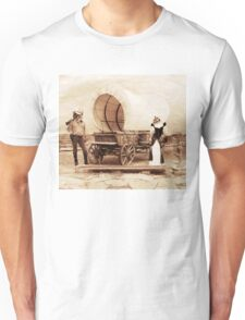 Old West Cowboy Cat and Saloon Kitty Unisex T-Shirt