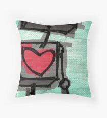 h3@rt Throw Pillow