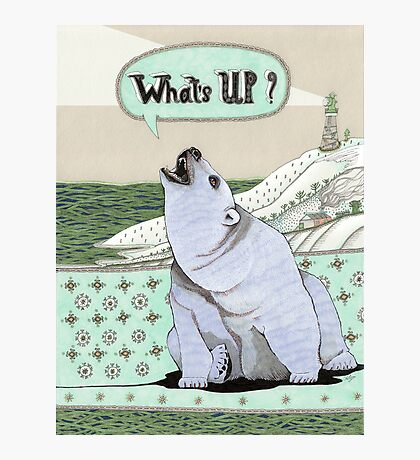 What's Up Bear Photographic Print