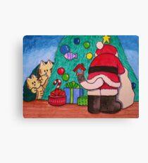 Santa Cat Exist! Canvas Print