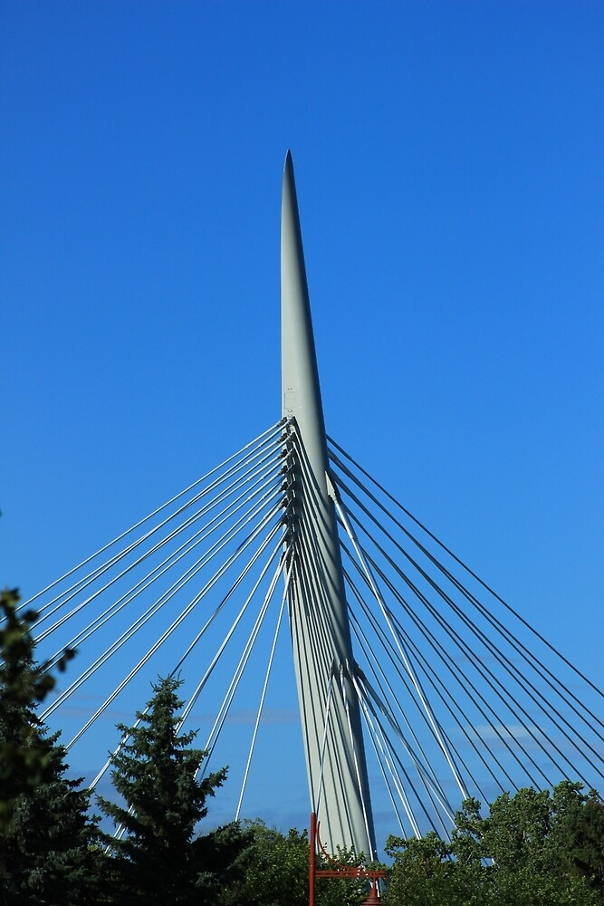 Spire and Cables on a Bridge by rhamm