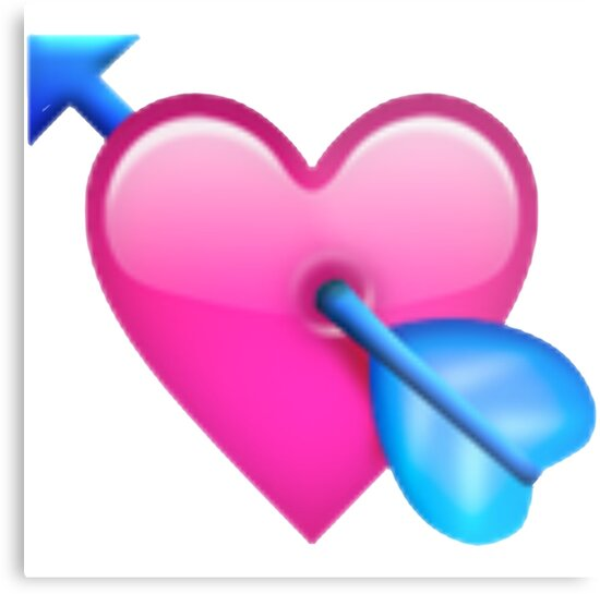 """heart with arrow emoji"" Metal Prints by Emojiames 