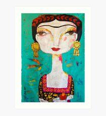 Frida - Holding Art Print