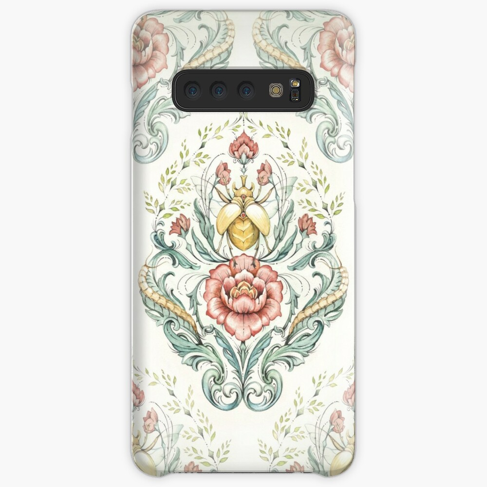 Antique pattern - Beetle and centipedes Cases & Skins for Samsung Galaxy