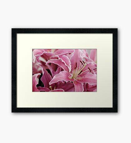 Bunch of Lillies Framed Print