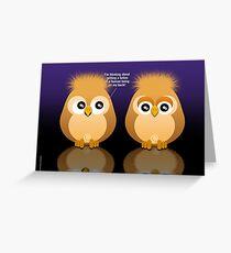 OWL TATTOO Greeting Card