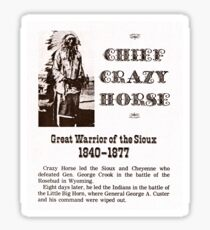 Chief Crazy Horse Sticker