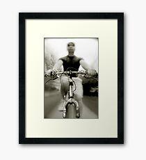 Bicycling Framed Print