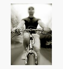 Bicycling Photographic Print