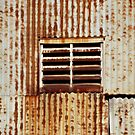 Rusty corrugated wall, Ivanhoe by Roz McQuillan
