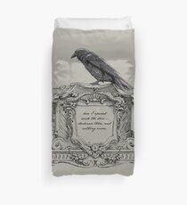 Edgar Allan Poe and Raven Duvet Cover