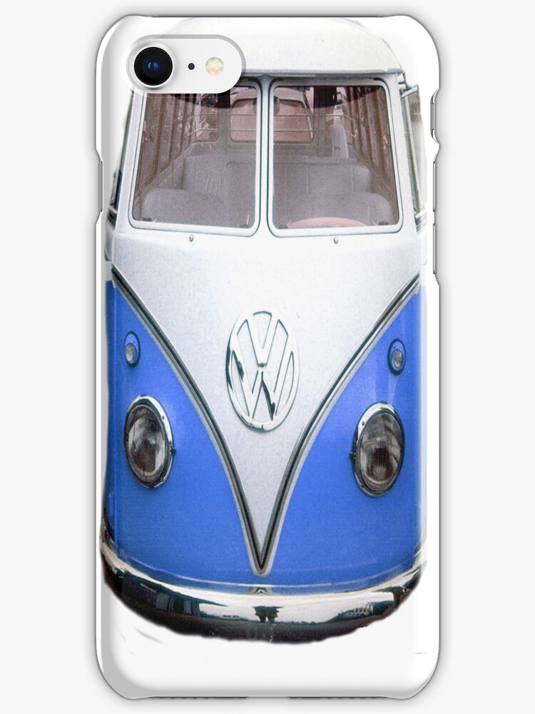 VW Blue iphone Case by andytechie