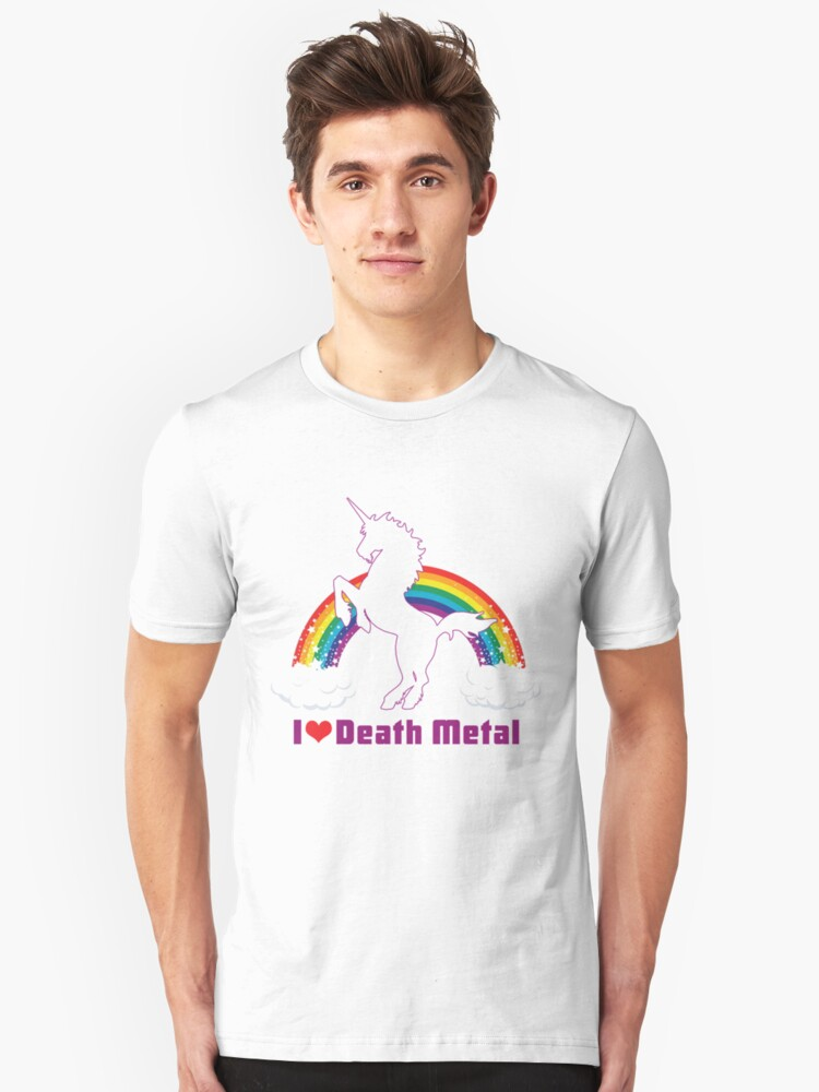 I LOVE DEATH METAL Unisex T-Shirt Front