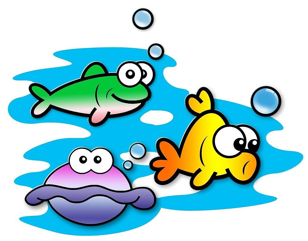 Fishy Friends by KrossKiwi