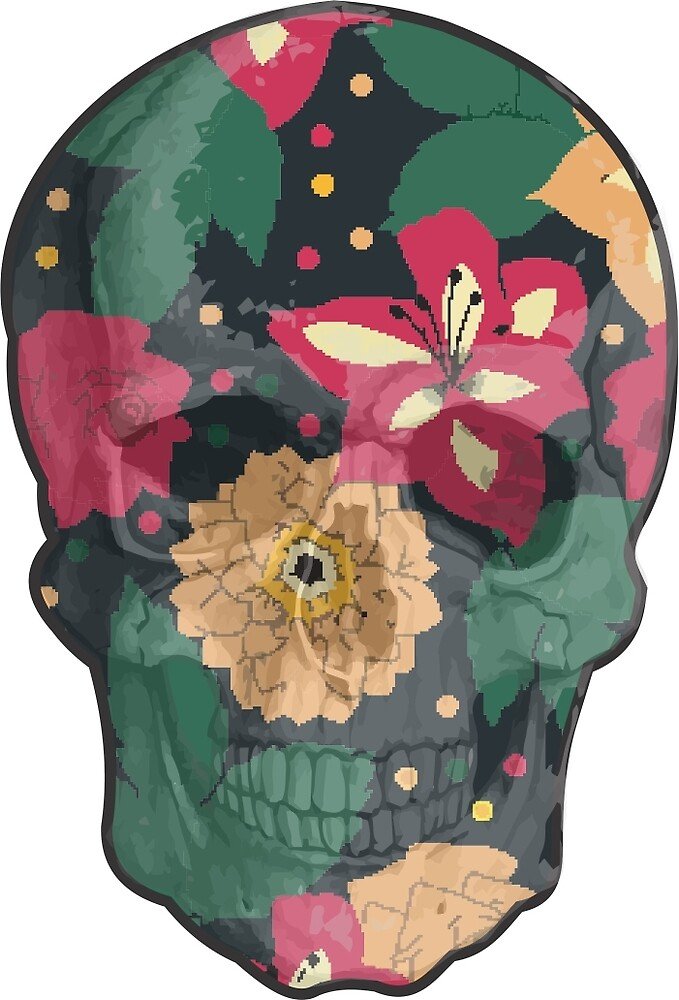 Skull Flower by crazyowl