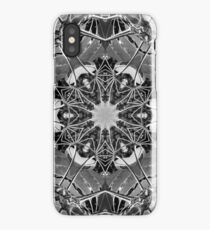 Abstract kaleidoscope of Umbrella Tree in Forest iPhone Case/Skin