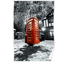 Winter phonebox Poster