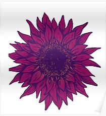 Purple flower Poster