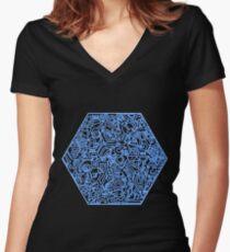 Blau Women's Fitted V-Neck T-Shirt