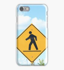 Pedestrian Crosswalk Sign iPhone Case/Skin