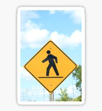Pedestrian Crosswalk Sign Sticker