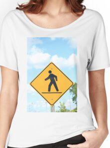 Pedestrian Crosswalk Sign Women's Relaxed Fit T-Shirt