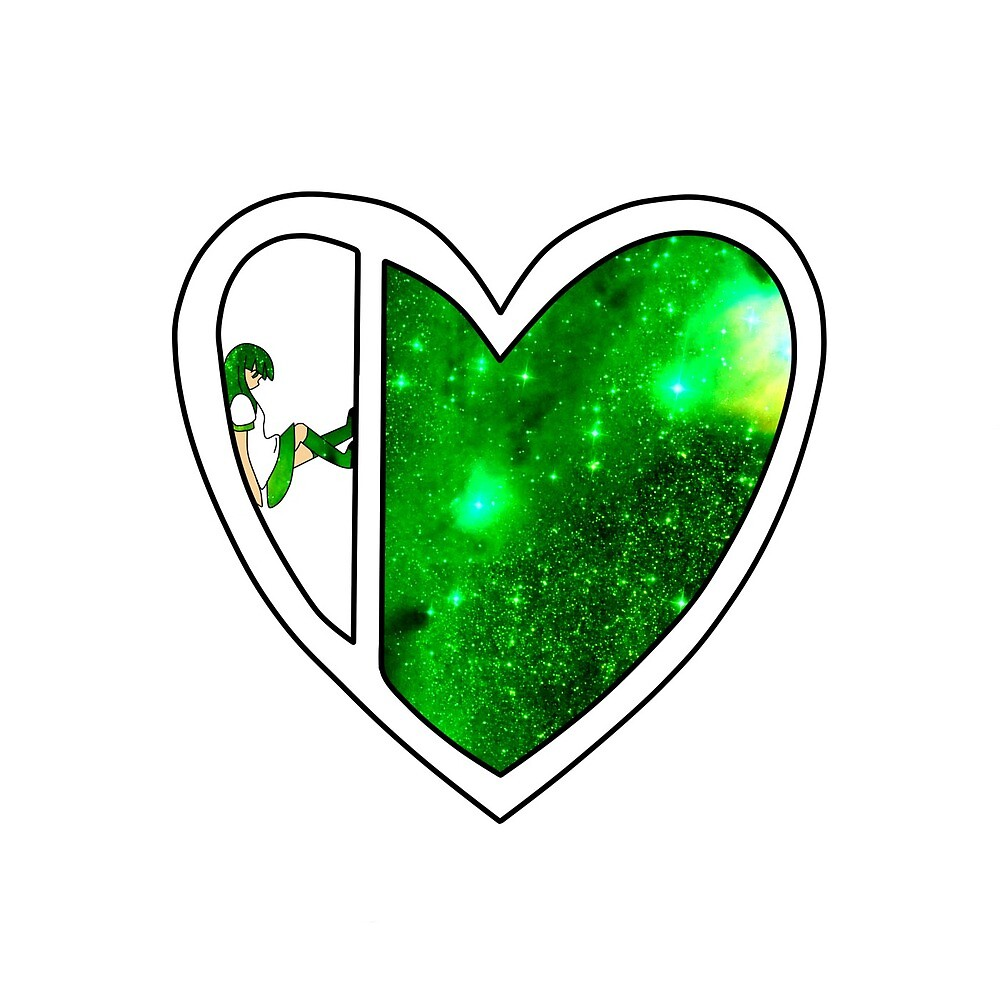 Galaxy Heart Girl-Green by snowy--bird
