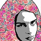 Portrait with Paper Marbling by Eric Goddard-Scovel
