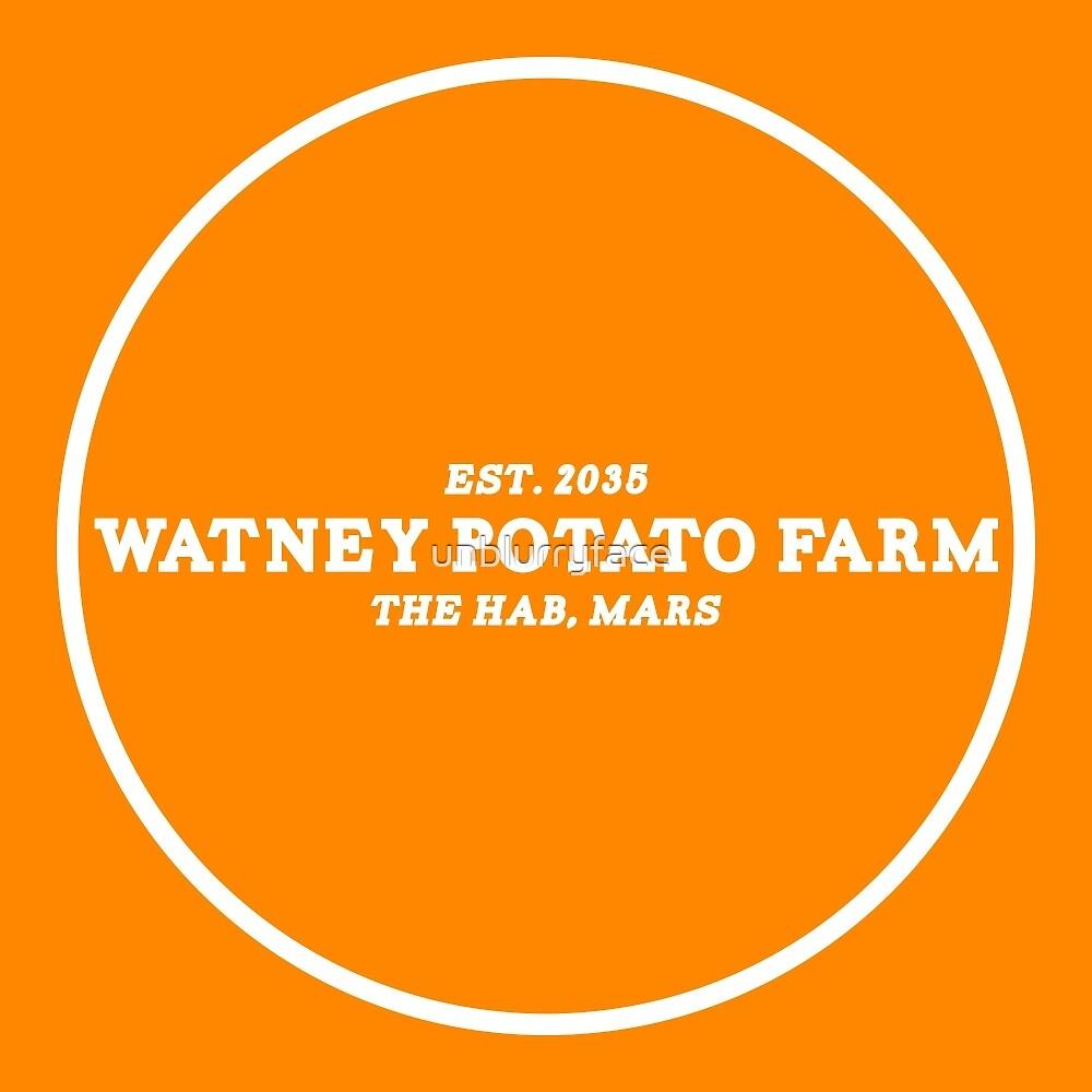 the martian - 'watney potato farm' minimalist typography by unblurryface