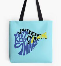 Einfach weiter schwimmen Tasche