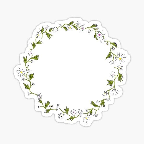 Daisy Wreath Sticker Sticker