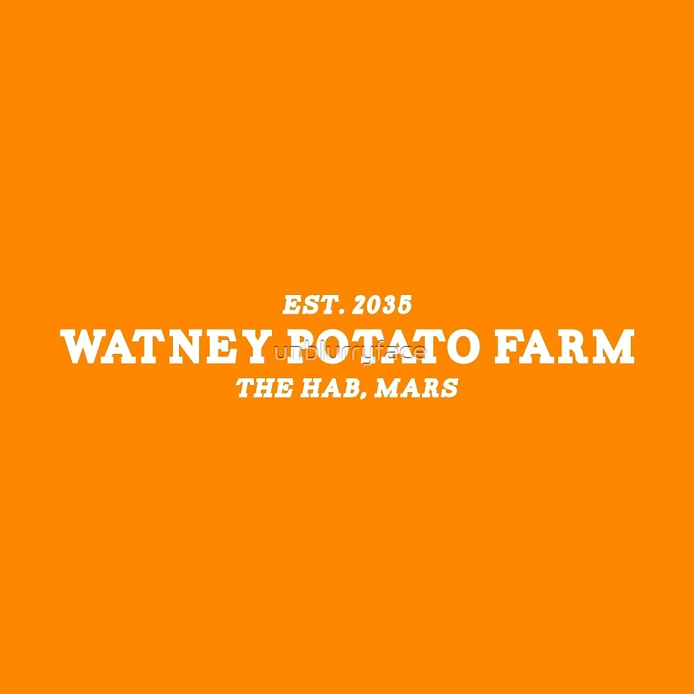 the martian - 'watney potato farm' minimalist typography (sans circle) by unblurryface