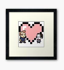 Community - Jeff and Annie 8-bit (style B) Framed Print