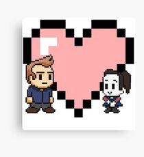 Community - Jeff and Annie 8-bit (style B) Canvas Print