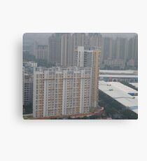A colourful skyscraper in the early morning Canvas Print