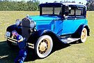 """1931 Model """"A"""" Ford and Friend by AuntDot"""