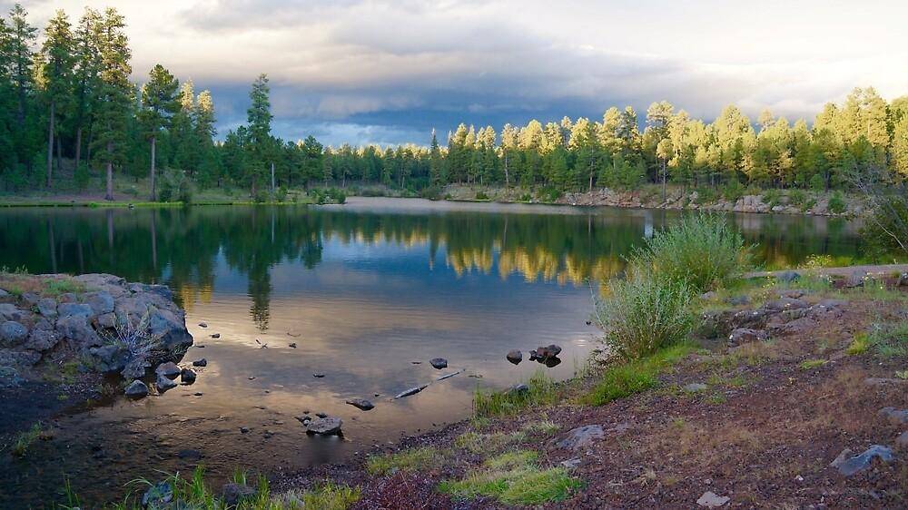 Sunset On Little Bear Lake by Gina Dazzo