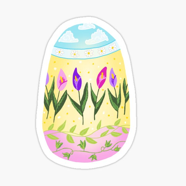 Pastel Painted Easter Egg Sticker