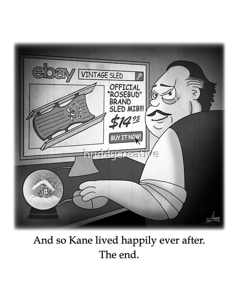 "Citizen Kane Finds ""Rosebud"" (Film Geek Humor) by huddycreative"